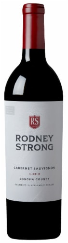 Rodney Strong Cabernet Sauvignon Red Wine Perspective: back