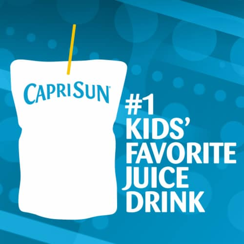 Capri Sun Roarin' Waters Berry Rapids Flavored Water Beverage Pouches 10 Count Perspective: back