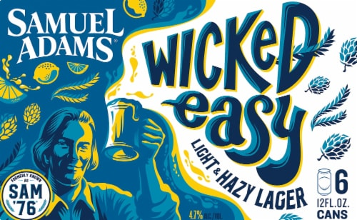 Samuel Adams Wicked Easy Light & Hazy Lager Perspective: back