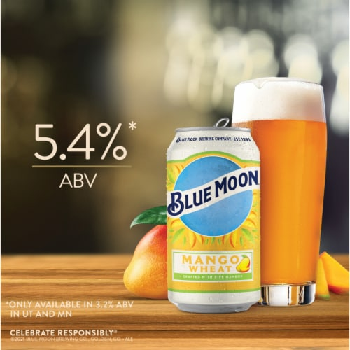 Blue Moon® Mango Wheat Beer Perspective: back