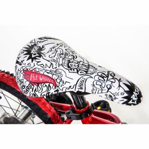 Dynacraft Hot Wheels® Beginner BMX Bike - Red/Black Perspective: back