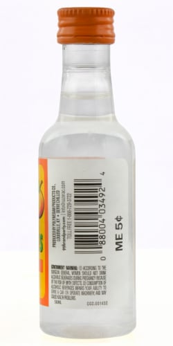 99 Brand Peach Flavored Liqueur Perspective: back