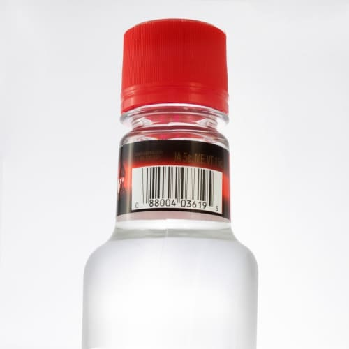 Popov Premium Blend Vodka Perspective: back