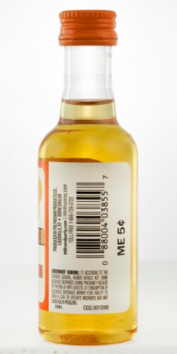 99 Brand Peanut Butter Flavored Whiskey Perspective: back