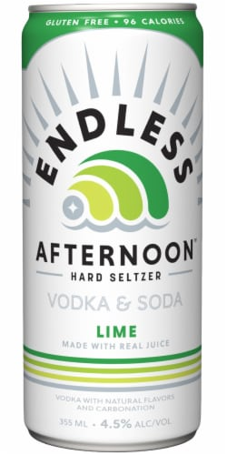 Endless Summer Afternoon Lime Vodka and Soda Perspective: back