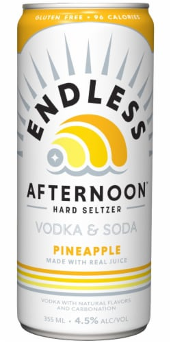 Endless Summer Afternoon Pineapple Vodka Soda Perspective: back