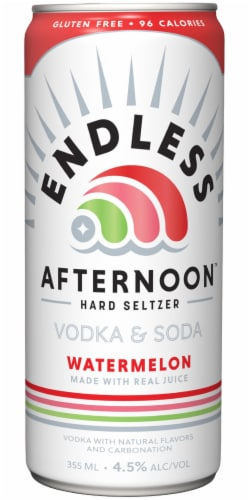 Endless Summer Afternoon Watermelon Vodka Soda Perspective: back