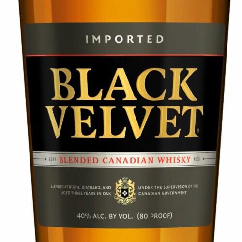 Black Velvet Blended Canadian Whisky Perspective: back