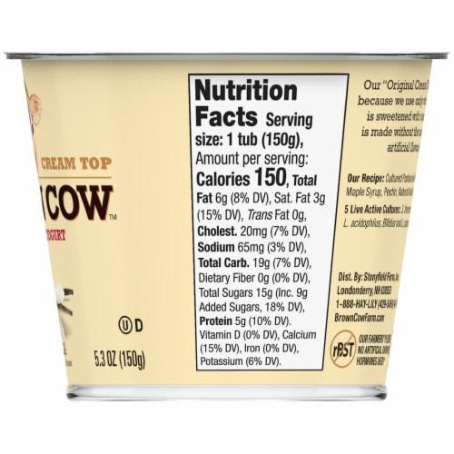 Brown Cow Cream Top Vanilla Whole Milk Yogurt Perspective: back