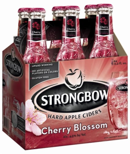 Strongbow Cherry Blossom Hard Apple Cider Perspective: back