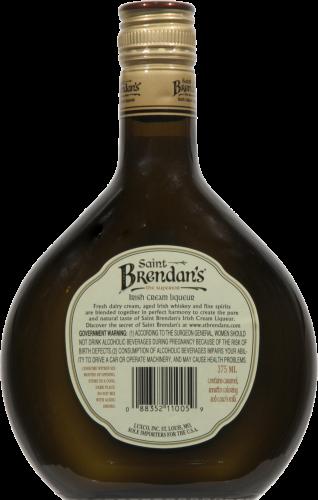 Saint Brendan's Irish Cream Cordial Perspective: back