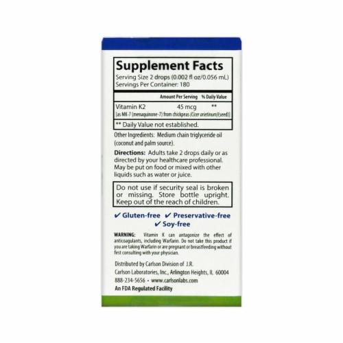 Carlson Super Daily Vitamin K2 Drops 45mcg Perspective: back