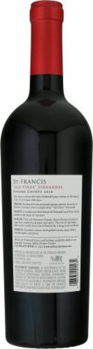 St. Francis Sonoma County Old Vines Zinfandel Perspective: back