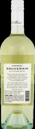 Chateau Souverain Sauvignon Blanc White Wine Perspective: back
