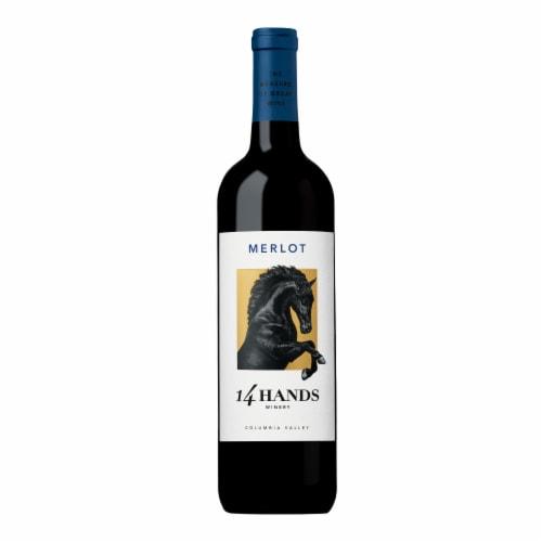 14 Hands Merlot Red Wine Perspective: back