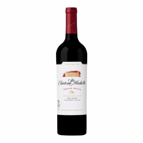 Chateau Ste Michelle Indian Wells Red Blend Wine Perspective: back