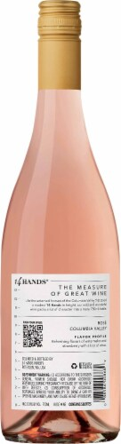 14 Hands Columbia Valley Rose Wine Perspective: back
