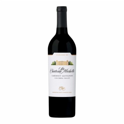 Chateau Ste Michelle Cabernet Sauvignon Red Wine Perspective: back