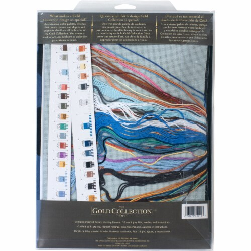 Dimensions® Aurora Cabin Counted Cross Stitch Kit Perspective: back