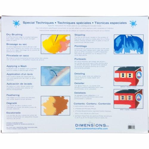 Dimensions® PaintWorks™ Paris Flower Shop Paint by Number Kit Perspective: back