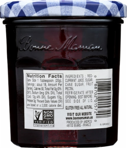 Bonne Maman Redcurrant Jelly Perspective: back