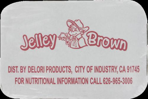 Jelley Brown Assorted Flavors Gelatin Perspective: back