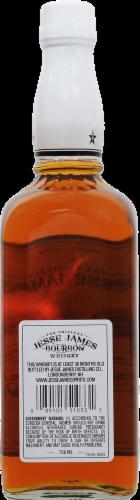 Jesse James Bourbon Whiskey Perspective: back