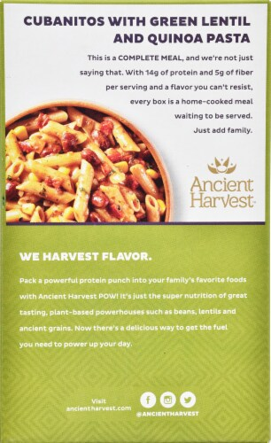 Ancient Harvest POW! Gluten Free Power Protein Cubanitos Pasta Meals with Beans & Peppers Perspective: back