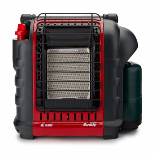 Mr. Heater Buddy Portable Propane Heater - Red/Black Perspective: back