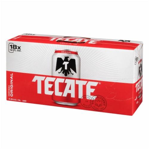 Tecate Cerveza Original Mexican Beer Perspective: back