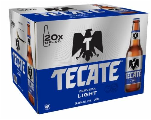 Tecate Cerveza Light Beer Perspective: back