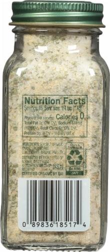 Simply Organic Garlic Salt Perspective: back