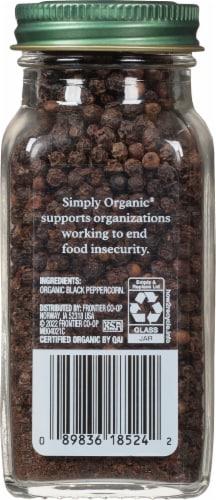 Simply Organic® Black Peppercorns Perspective: back