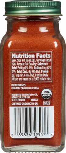 Simply Organic® Smoked Paprika Perspective: back