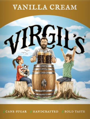 Virgil's Micro-Brewed Cream Soda Perspective: back