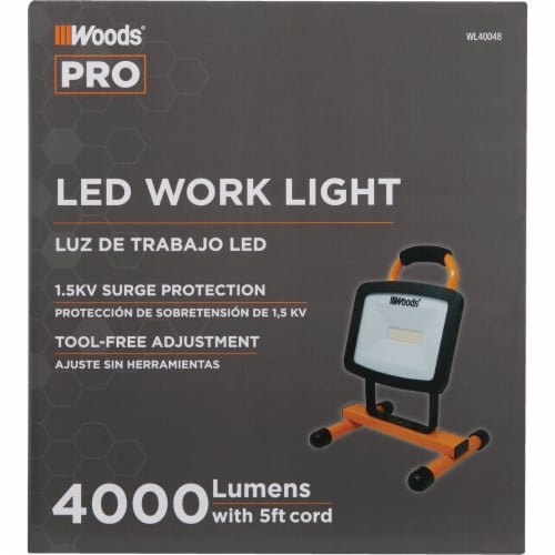 Woods® LED H-Stand Portable Work Light Perspective: back