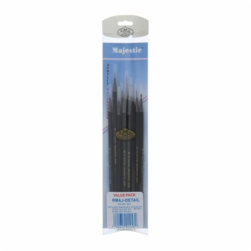 Royal Langnickel Majestic Detail Brush Set Perspective: back