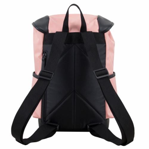 Bodhi Stella Fashion Drawstring Flap Backpack - Blush Perspective: back