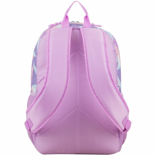 Fuel Crystal Clear Triple Decker Backpack - Peach/White Perspective: back