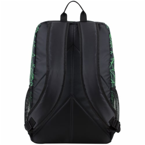 Fuel Wide Mouth Bungee Backpack - Black/Lime Perspective: back