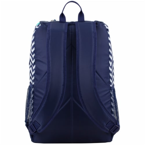 Fuel Wide Mouth Bungee Backpack - Chevron Deep Cobalt Perspective: back