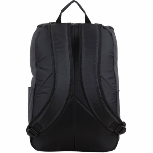 Fuel Wide Mouth Cargo Backpack - Black Chambray Perspective: back
