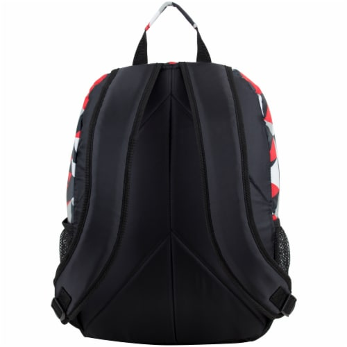 Eastsport Active 2.0 Backpack - Black/Poppy Red Geo Perspective: back