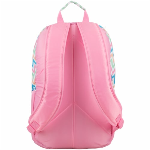 Fuel Deluxe Lunch Bag & Backpack Combo - Cotton Candy Chevron Perspective: back