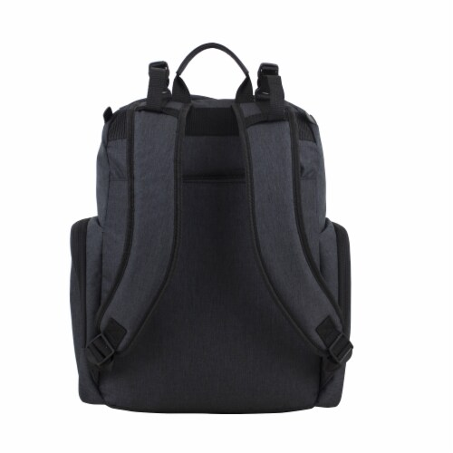 Bodhi Baby Wooster St. Diaper Backpack - Black Chambray Perspective: back