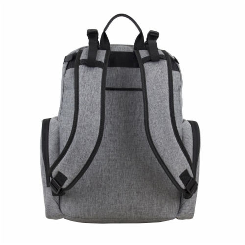 Bodhi Baby Wooster Street Diaper Backpack - Mid-grey Chambray Perspective: back