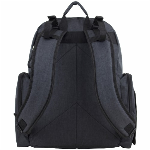 Bodhi Baby Bond Street Diaper Backpack - Black Chambray Perspective: back