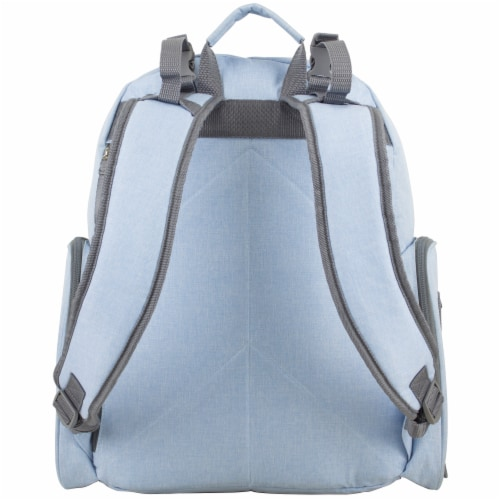 Bodhi Baby Bond Street Diaper Backpack - Light Blue Chambray Perspective: back