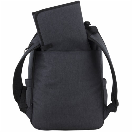 Bodhi Baby Rubin Weekender Tech Diaper Backpack - Black Chambray Perspective: back
