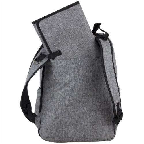 Bodhi Baby Rubin Weekender Tech Diaper Backpack - Mid-grey Chambray Perspective: back